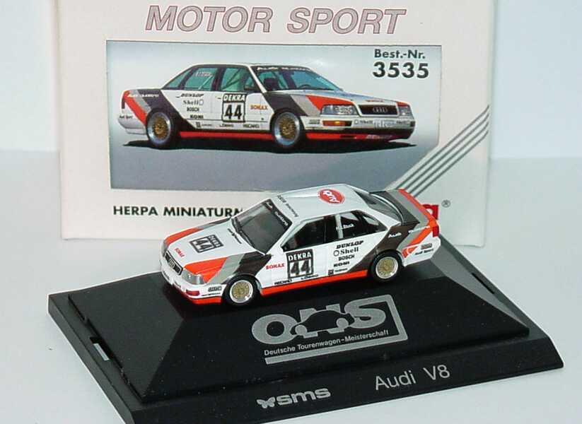 Foto 1:87 Audi V8 DTM 1990 SMS Nr.44, H.J. Stuck herpa 3535