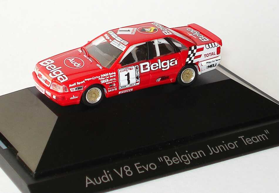 Foto 1:87 Audi V8 Evolution Belgian Procar 1992 Belgian Junior Team Belga Nr.1 Philip Verellen - herpa 035767