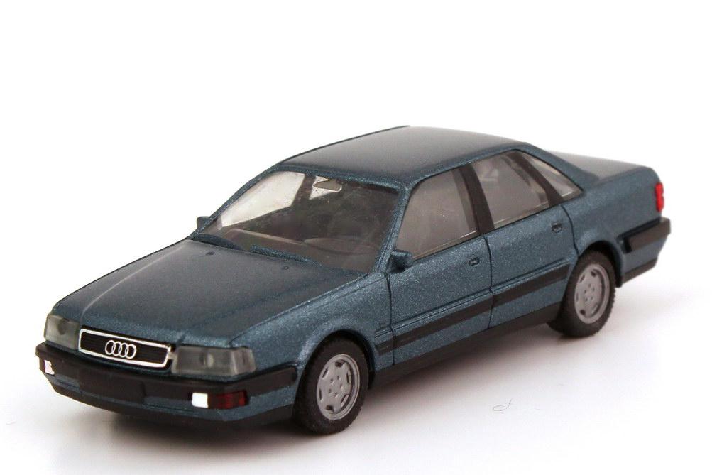 Foto 1:87 Audi V8 petrolblau-met. - herpa 030922