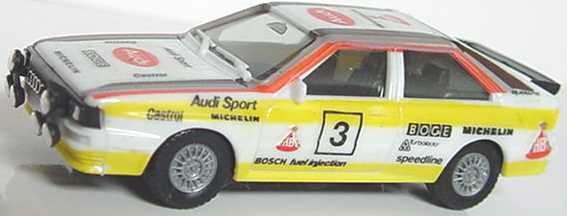 Foto 1:87 Audi quattro Rallye Audi Sport, HB Nr.3 (Dacals angebracht) herpa 3544