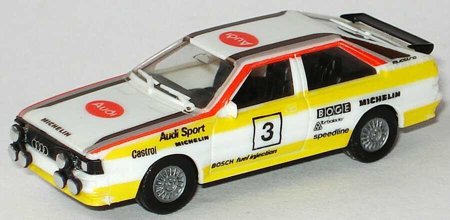 Foto 1:87 Audi quattro Rallye Audi Sport, HB Nr.3 (Scheinwerfer montiert, keine Decals) herpa 3544