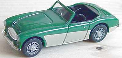 Foto 1:87 Austin Healey 3000 dunkelgrün/beige Wiking 8160123
