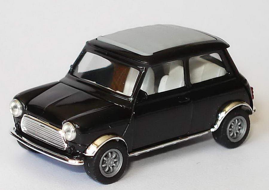 Foto 1:87 Austin Mini Cooper mit Rolldach (geschlossen) schwarz, Kotflügel verchromt herpa 188043
