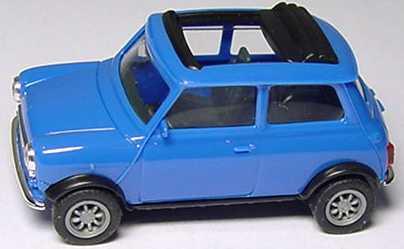 Foto 1:87 Austin Mini Cooper mit Rolldach (offen) blau herpa