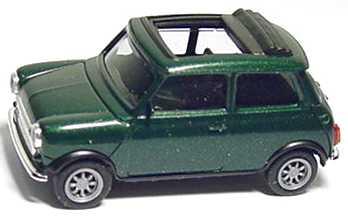 Foto 1:87 Austin Mini Cooper mit Rolldach (offen) racinggreen-met. herpa 186674