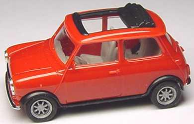 Foto 1:87 Austin Mini Cooper mit Rolldach (offen) rot herpa