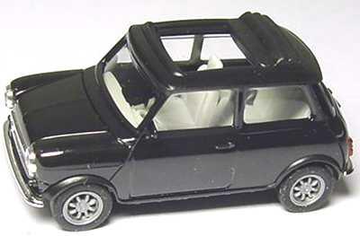 Foto 1:87 Austin Mini Cooper mit Rolldach (offen) schwarz herpa