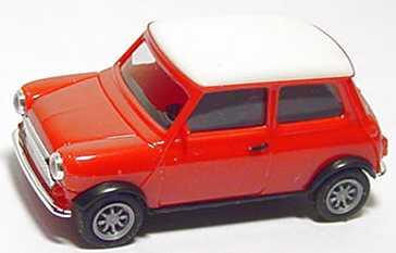 Foto 1:87 Austin Mini Cooper rot, Dach weiß herpa 021104