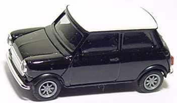 Foto 1:87 Austin Mini Cooper schwarz, Dach weiß herpa 021104