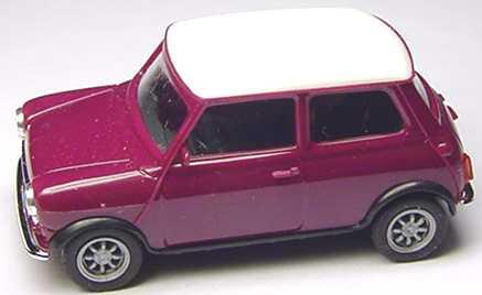 Foto 1:87 Austin Mini Cooper violett, Dach weiß herpa 021104