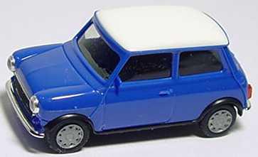 Foto 1:87 Austin Mini Mayfair blau, Dach weiß herpa