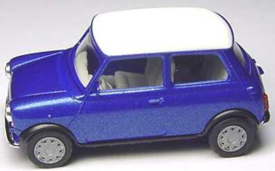 Foto 1:87 Austin Mini Mayfair blaumet., Dach weiß herpa