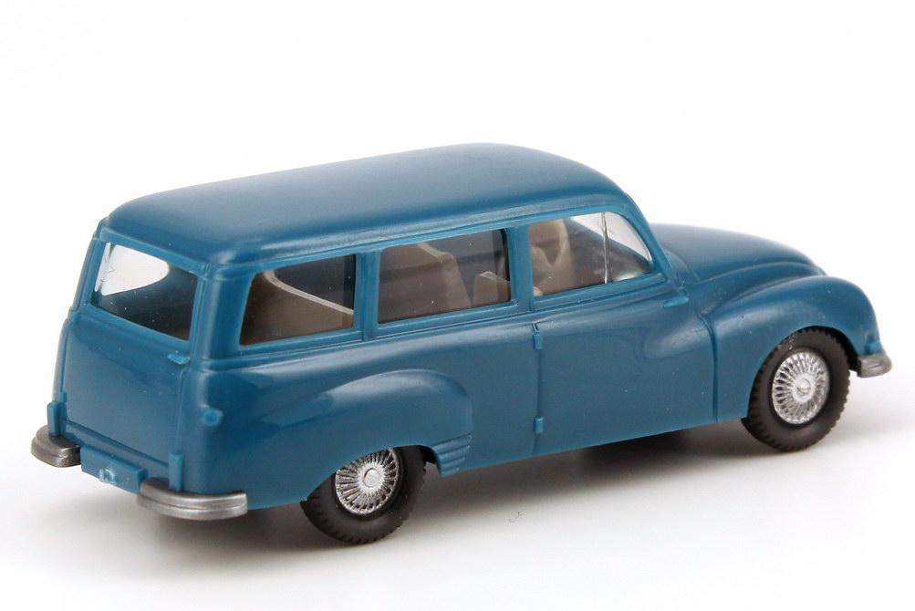 Foto 1:87 Auto Union 1000 Universal capri-blau Wiking 123