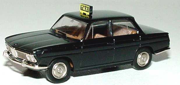 Foto 1:87 BMW 1500 Taxi schwarz Brekina 2210