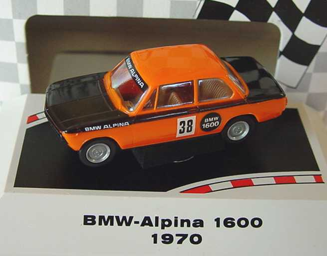 Foto 1:87 BMW 1600 Alpina orange/schwarz Nr.38 (1970) Brekina 24003