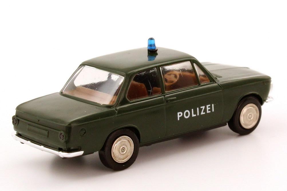 Foto 1:87 BMW 1602 Polizei dunkelgrün Brekina 24010