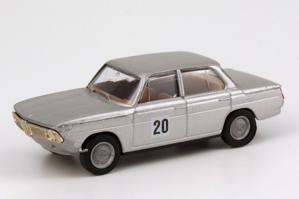 Foto 1:87 BMW 1800 TISA DRMfT 1965 polar-silber-met. Nr.20, Hubert Hahne Brekina 2242