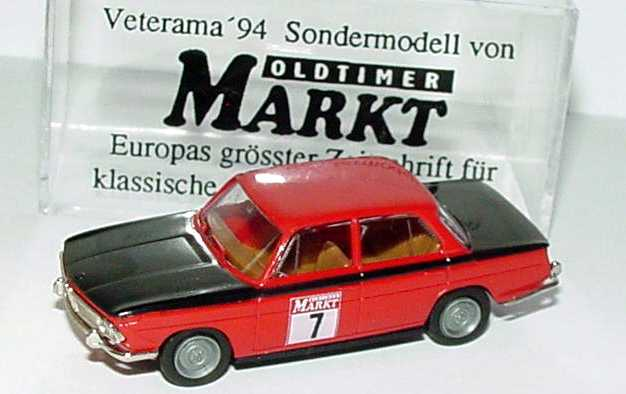 Foto 1:87 BMW 1800 TISA polarssilber-met. Oldtimer Markt Nr.7 (Sondermodell Veterama ´94) Brekina