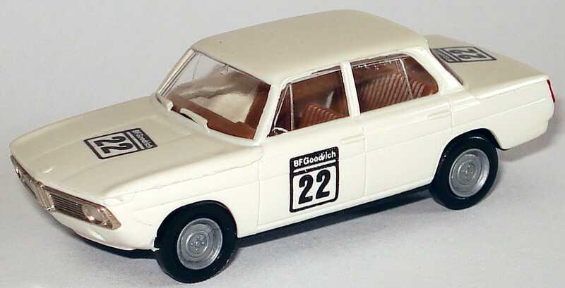 Foto 1:87 BMW 1800 TISA weiß Nr.22 BF Goodrich (Historische Tourenwagen EM 1991 in Silverstone) Brekina 2243