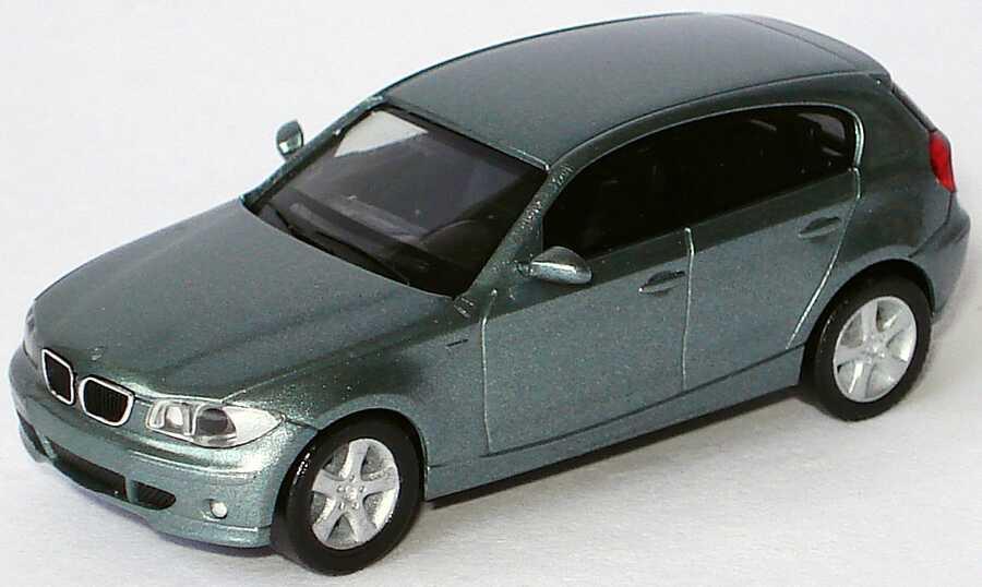 Foto 1:87 BMW 1er (E87) graugrün-met. herpa