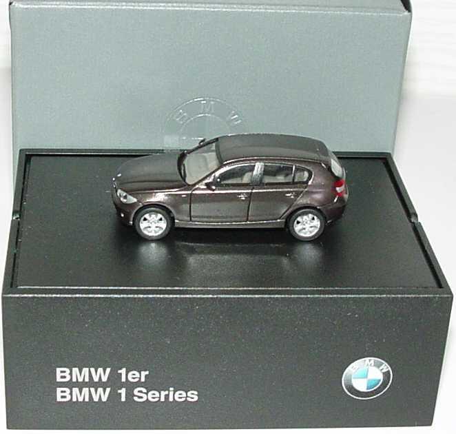 Foto 1:87 BMW 1er (E87) havanna-met. Werbemodell herpa 80410308610