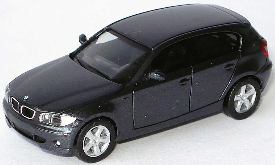 Foto 1:87 BMW 1er (E87) sparkling-graphite-met. (ohne Klappbox) herpa 80410308611