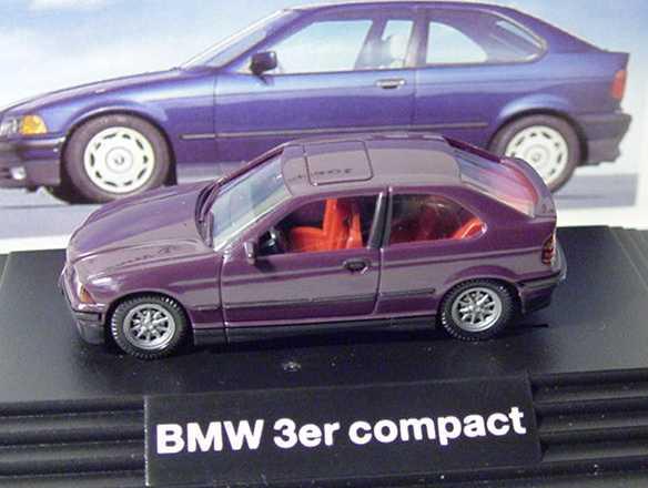 Foto 1:87 BMW 316i compact dunkelviolett Werbemodell Wiking 90419419718