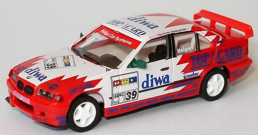 Foto 1:87 BMW 320i STW-Cup 1997 Diwa-Top-Card Nr.39, Heigert (ohne PC-Box) herpa 037099/0188043