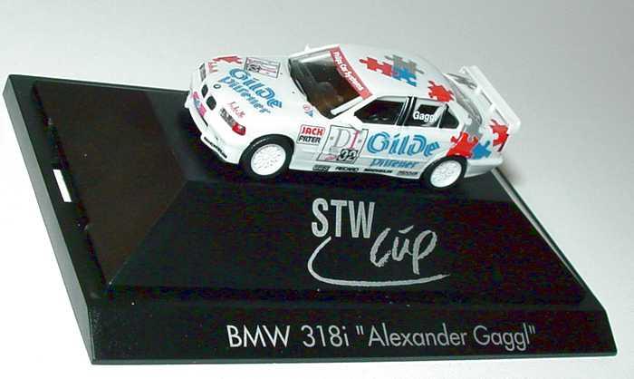 Foto 1:87 BMW 318iS STW-Cup ´96 Lauderbach, Gilde Pilsener Nr.32, Alexander Gaggl herpa 037006