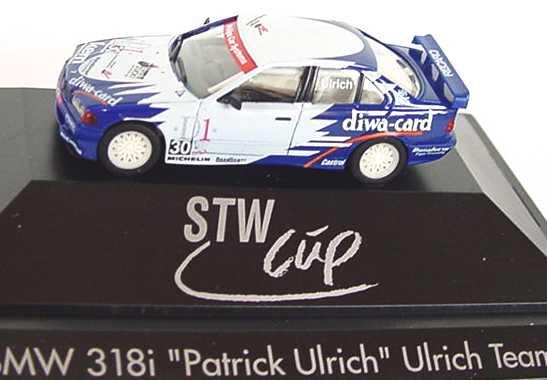 Foto 1:87 BMW 318iS Ulrich, Diwa-Card Nr.30, Patrik Ulrich (STW-Cup ´96) herpa 036993