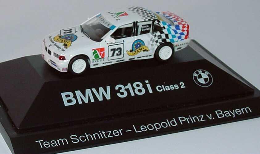 Foto 1:87 BMW 318i (E36) JTCC Class 2 Schnitzer Nr. 73, Leop. Prinz v. Bayern Werbemodell herpa 80419420604