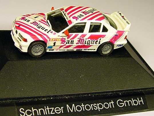 Foto 1:87 BMW 318i (E36) Macau1994 Schnitzer, San Miguel Nr.1, Winkelhock - Winner (Handmade) herpa