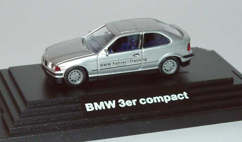 Foto 1:87 BMW 318i compact silber-met. BMW Fahrer-Training Werbemodell Wiking 80419421052