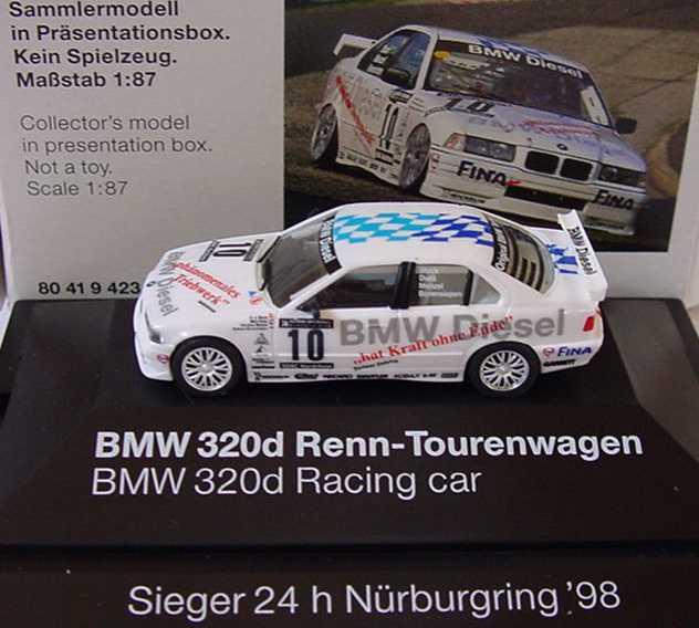 Foto 1:87 BMW 320d BMW Diesel, Sieger 24h Nürburgring ´98 Nr.10, Stuck/Duez/Menzel/Bovensiepen Werbemodell herpa 80419423108