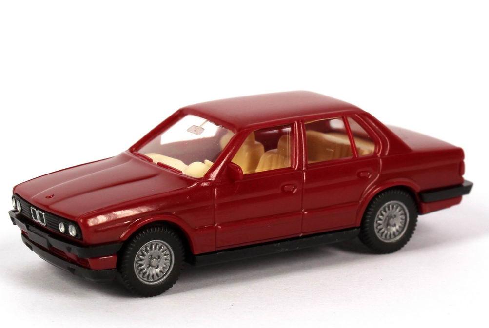 Foto 1:87 BMW 320i 4türig (E30) karminrot Wiking 190