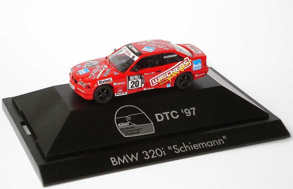 Foto 1:87 BMW 320i Coupé (E36) DTC ´97 Krause, Wiechers Nr.20, Schiemann herpa 037310