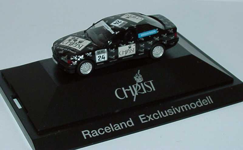 Foto 1:87 BMW 320i Coupé (E36) DTT 1992 Hammer, Christ Nr.24, Meeuvissen (Raceland-Exclusivmodell) herpa