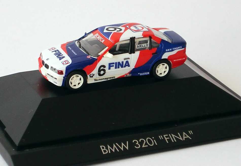 Foto 1:87 BMW 320i E36 CFS 1993 Oreca Fina Nr.6 Laurent Aiello - herpa 035934