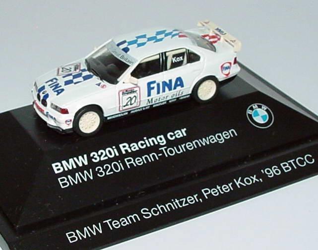 Foto 1:87 BMW 320i (E36) BTCC 1996 Schnitzer, Fina Nr.20, Peter Kox Werbemodell herpa 80419421435