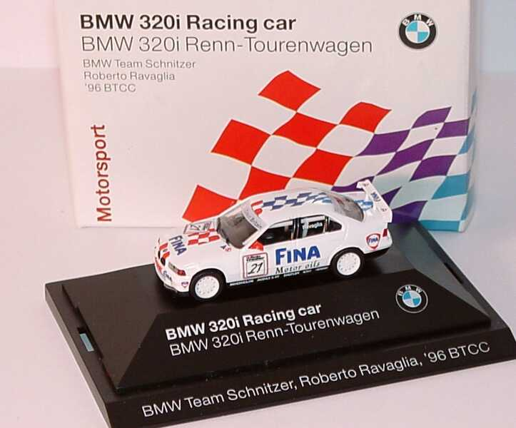 Foto 1:87 BMW 320i (E36) BTCC 1996 Schnitzer, Fina Nr.21, Roberto Ravaglia Werbemodell herpa 80419421435