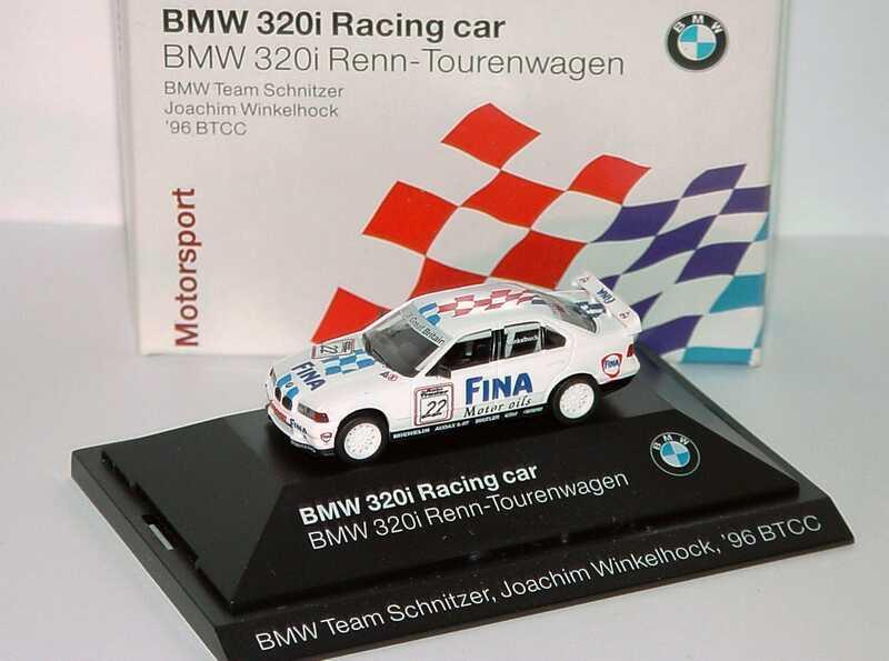 Foto 1:87 BMW 320i (E36) BTCC 1996 Schnitzer, Fina Nr.22, J. Winkelhock Werbemodell herpa 80419421434