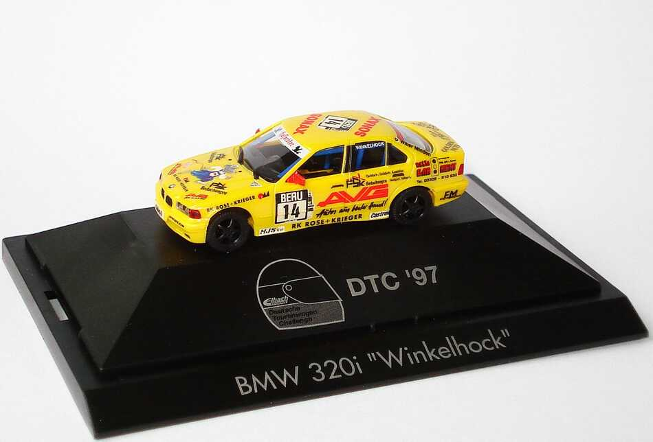 Foto 1:87 BMW 320i (E36) DTC ´97 Willer, AVG Nr.14, Th. Winkelhock herpa 037334