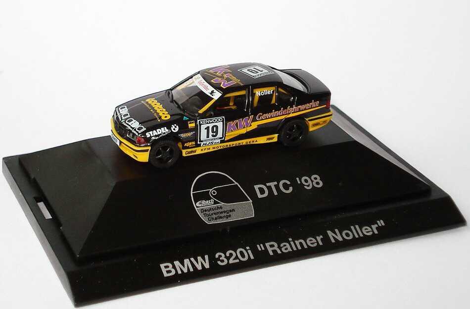Foto 1:87 BMW 320i (E36) DTC ´98 KFM, KW Gewindefahrwerke Nr.19, Noller herpa 037495
