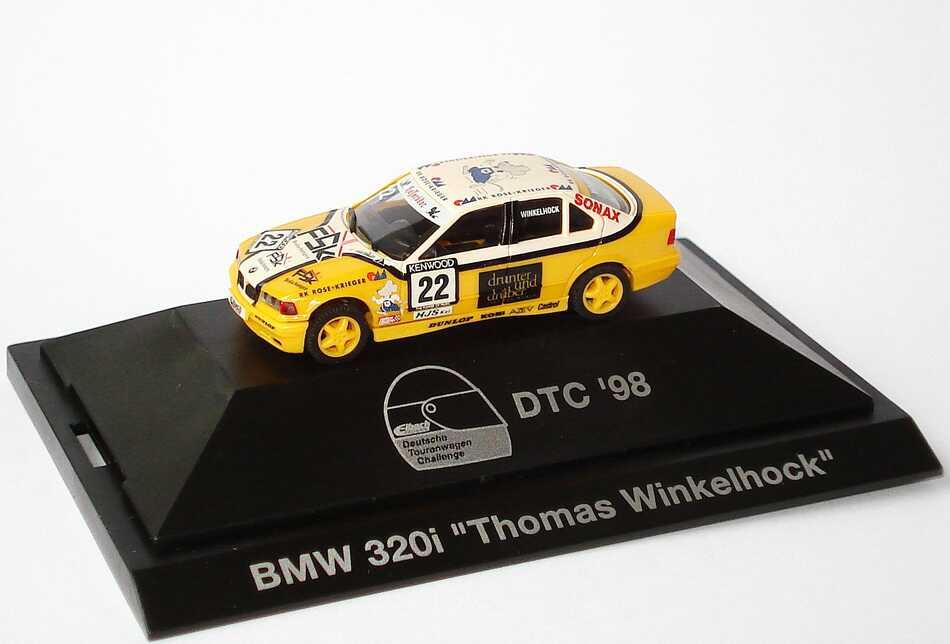 Foto 1:87 BMW 320i E36 DTC 98 Brinkmann FSK Nr.22 Thomas Winkelhock - herpa 037501