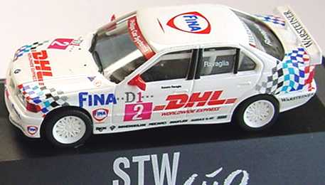 Foto 1:87 BMW 320i E36 STW 1995 Bigazzi Fina DHL Nr.2 Roberto Ravaglia - herpa 036665