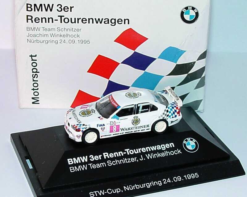 Foto 1:87 BMW 320i (E36) STW 1995 Schnitzer Nr.8, Joachim Winkelhock Werbemodell STW-Cup, Nürburgring 24.09.1995 herpa