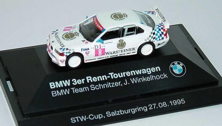 Foto 1:87 BMW 320i (E36) STW 1995 Schnitzer Nr.8, Joachim Winkelhock Werbemodell STW-Cup, Salzburgring 27.08.1995 herpa