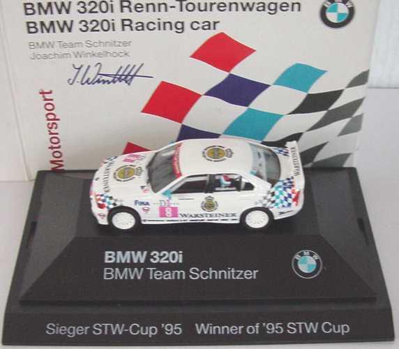 Foto 1:87 BMW 320i (E36) STW 1995 Schnitzer Nr.8, Joachim Winkelhock Werbemodell Sieger STW-Cup ´95 herpa 80419421161