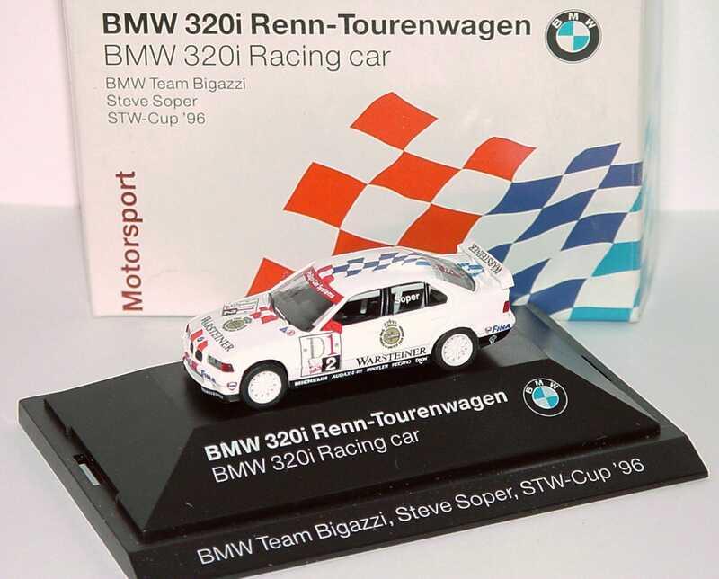 Foto 1:87 BMW 320i (E36) STW 1996 Bigazzi, Warsteiner Nr.2, Soper Werbemodell herpa 80419421437