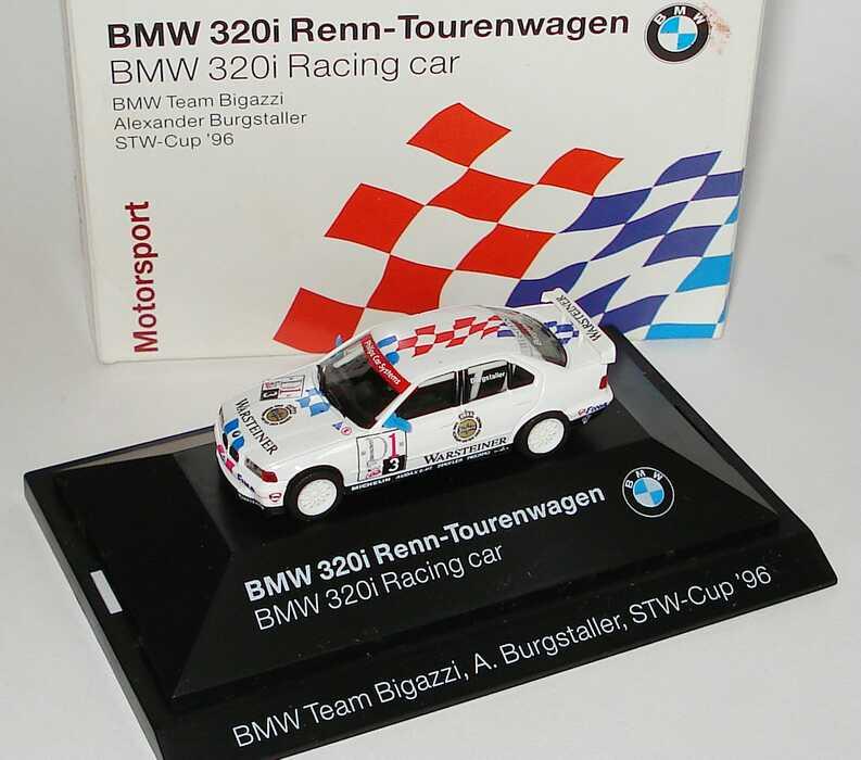 Foto 1:87 BMW 320i (E36) STW 1996 Bigazzi, Warsteiner Nr. 3, Burgstaller Werbemodell herpa 80419421438
